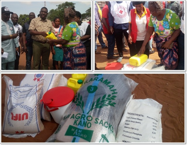 A Beneficiary of Red Cross Relief Materials for IDPs in Delta State