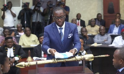 Delta State Governor, Senator Ifeanyi Okowa Presenting the 2019 Budget Estimates to the State House of Assembly, in Asaba.