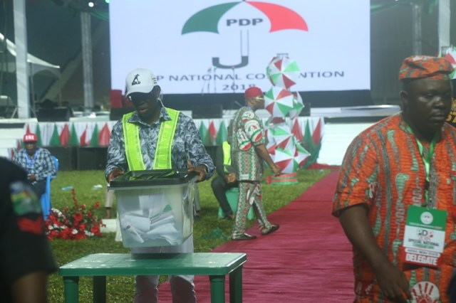 Governor Okowa Serving at Chairman, PDP 2018 Special National Convention held in Rivers State