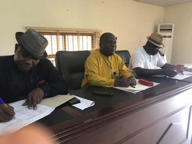 Delta State House of Assembly Lands Committee Chaired by Hon Peter Uviejitobor (middle)
