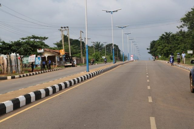 Newly Dualized Old Lagos/Asaba Road, from Emuhu Junction to Agbor-Obi Junction, Delta State.