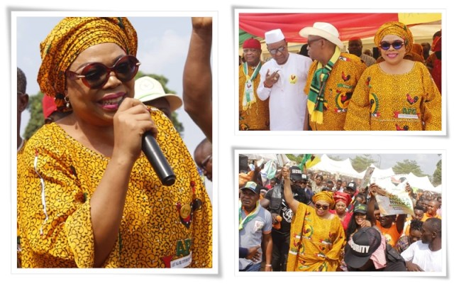 Presentation of flag to Hon Angela Nwaka as the APGA candidate for Aniocha south constituency seat