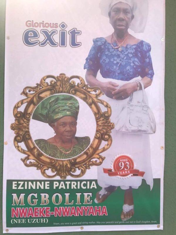 Late Ezinne Patricia Nwaeke-Nwanyaha