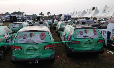 Cars Donated to PDP Campaign Council By Rt. Hon. Osanebi