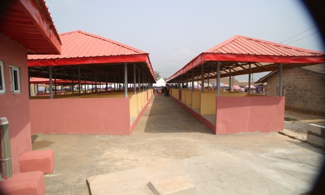Completed Akporio Market at Ozoro, Isoko North LGA.