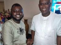 Comrade Efemena Umukoro Congratulating Senator Elect for Delta Central District, Senator Ovie Omo-Agege