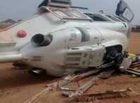 Crashed Helicopter Conveying Vice President Osinbajo