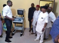 Inspection of the completed Hospital in Igbodo