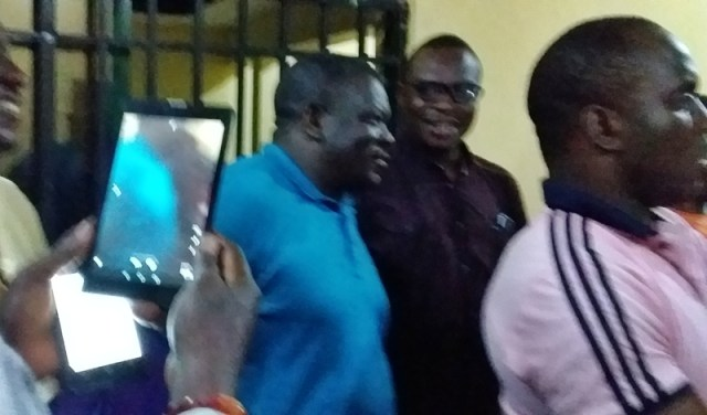 Hon Christopher Ochor Ochor at the INEC office at the early Morning of March 10, 2019, during the declaration.