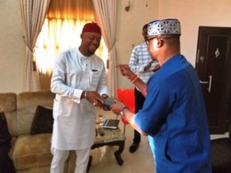 Chief Henry Nonso Ugbolue (right) Felicitating with Hon. Engr. Emeka Nwaobi (left)