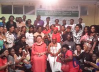 Participants at roundtable meeting on mobilizing and raising women against election violence held at Pearl Hall, the Atrium Event Centre, Port-Harcourt, Rivers State.