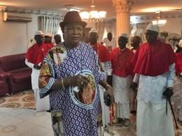 Seimbiri Monarch, King Charles Ayemi-Botu with Chiefs of Seimbiri Kingdom