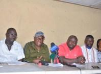 From Left: Austin Leleji, Mr. Billy Ekele, Engr. Clement Erewa, Prince Adolphus Tosanwumi & Patricia Edun of NNPC Itsekiri Host Communities
