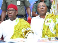 Delta State Governor, Senator Ifeanyi Okowa (left) and Deputy Governor of Delta State, Barr. Kingsley Otuaro