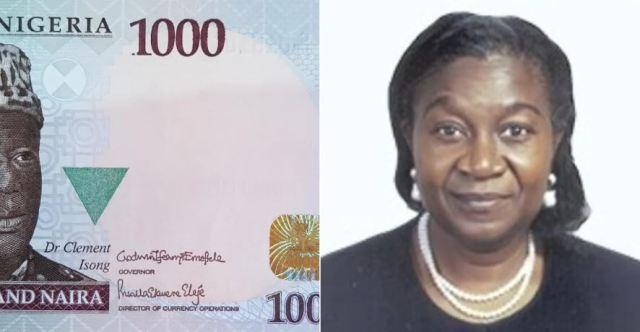 Mrs Priscilla Eleje, Director of Currency Operations in Nigeria, CBN