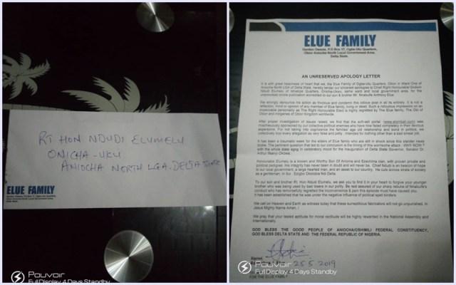 Elue Apology to Elumelu