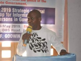 Convener, Delta Strategic Political Communication Workshop, Dr Fred Latimore Oghenesivbe, addressing participants.