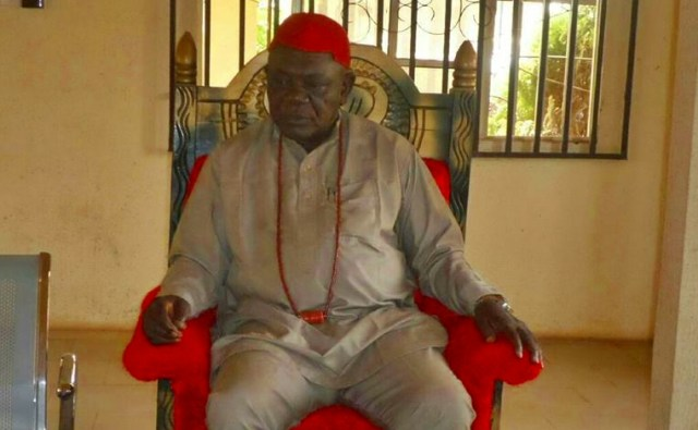 HRM Michael Mbanefo Ogbolu, the Ugoani of Okpanam community