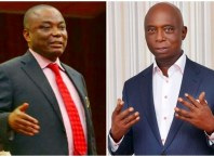 L-R: Senator Peter Nwaoboshi and Prince Ned Nwoko