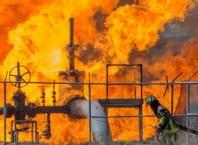 Illustration Photo: Oil Pipeline on Fire