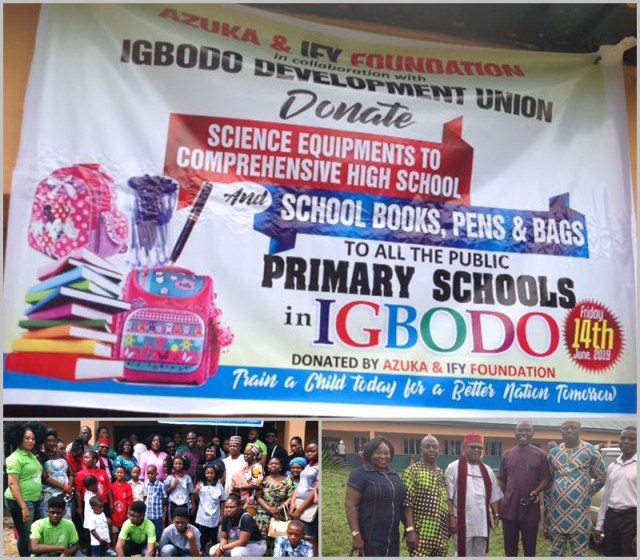 Educational Material Donation by Azuka and Ify Foundation