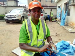 Mrs Blessing Nwabuzor, LLINS Supervisor at one of the Distribution Points in Asaba