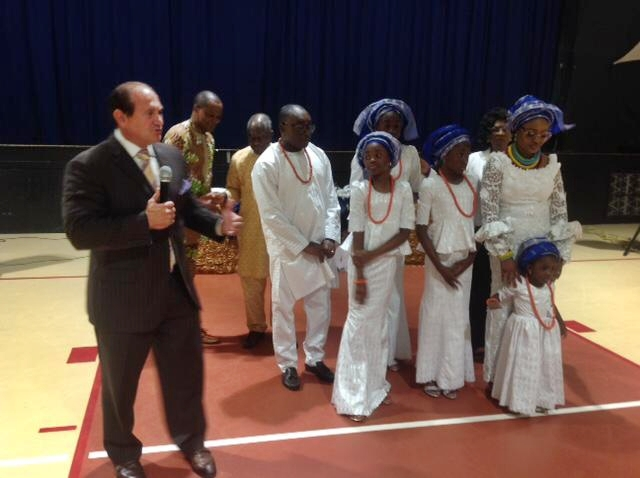 Pastor Cione Speaking at Nwaka Funeral