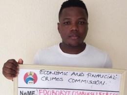 Edoboryi Osaruese Leerees, Fake Jumia Agent Arrested by EFCC