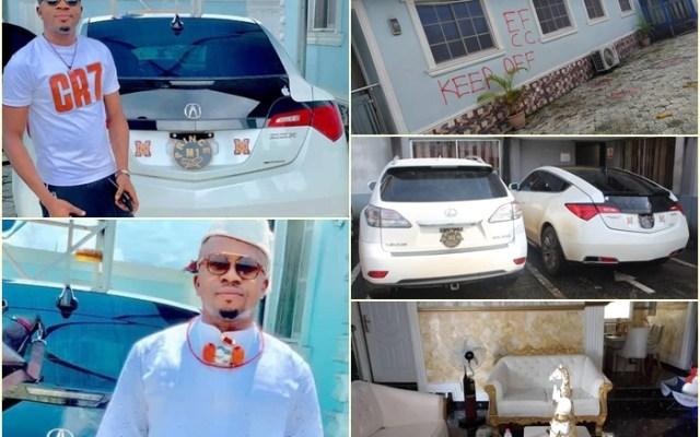 Inset: Akegor Omamuyovwi suspected Internet Fraudster and His Properties