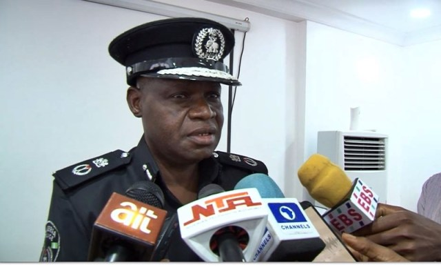 Edo State Commissioner of Police, DanMallam Muhammed, addressing journalists in Benin City, Edo State capital