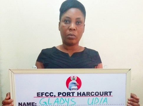 Gladys Udia, EFCC Suspect