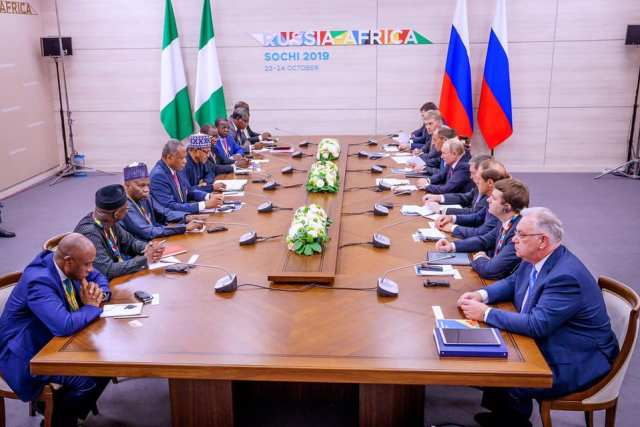 Nigeria and Russia Bilateral Meeting at Russia-Africa Summit in Sochi, Russia