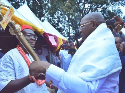 Delta Govt Presents Staff of Office to Ogwashi-Uku Monarch, Obi Ifechukwude Okonjo