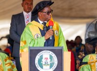 Governor Ifeanyi Okowa at the 2nd Combined Convocation of Delta State Polytechnic Ogwashi-Uku