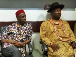 L-R: Rt. Hon. Rotimi Ameachi and Olorogun Festus Keyamo, SAN during a visit to Warri, Delta State