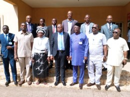 Members of Delta Assembly Committee on Housing with Officials of Delta Development and Property Authority, DDPA, office in Asaba.