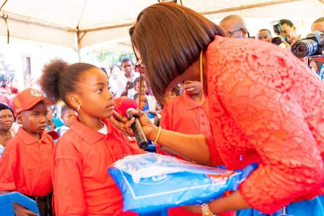 Dame Edith Okowa Distributing Mosquito Nets to Sickle Cell Warriors