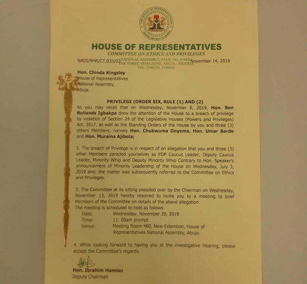 House of Reps Ethics and Privileges