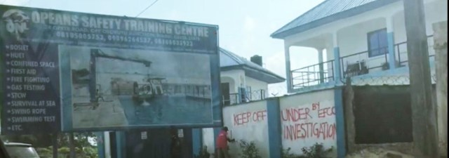 Opeans Nigeria Limited Safety Training Centre in Warri Sealed by EFCC