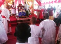 Hon Fred Martins Pays Homage To Olu Of Warri at Ode-Itsekiri