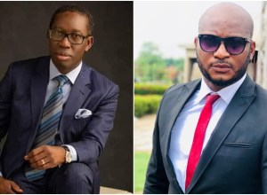 Pics Inset: Delta Governor, Ifeanyi Okowa and Nollywood Actor, Dave Ogbeni