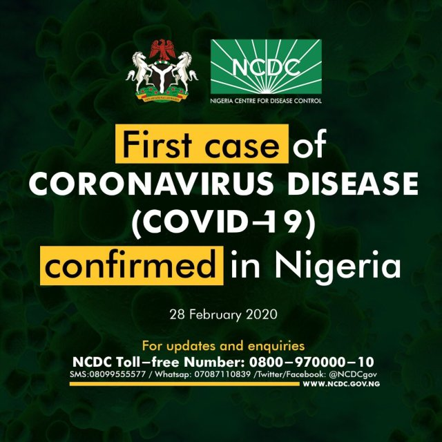Coronavirus Confirmed in Nigeria
