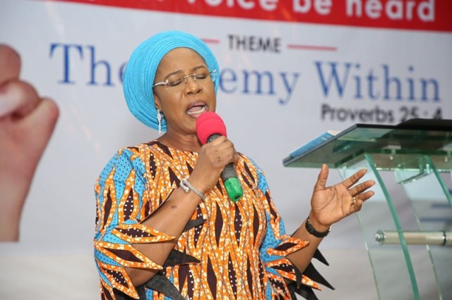 Wife of Delta Governor, Dame Edith Okowa during the 2020 Delta Mothers Arise Prayer Conference on Monday, Feb. 3 at Unity Hall, Government House, Asaba.
