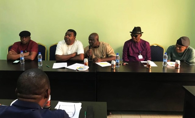 Chairman and Members of Delta State House of Assembly Committee on Trade and Investment (Honorables Mathew Opuoru Anthony Elekeokwuri, Felix Anirah, Shedrack Rapu and Ekpotuareyin Pullah)