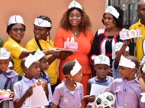 Participants at 2020 World Read Aloud Day celebration in Delta State