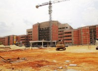 The multi-billionnaira CentralSecretariat Complexunder Construction by the Delta State Government in Asaba