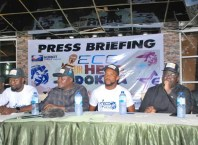 MD/CEO Kor8t Serve Limited, Mr Kelvin Ossai (3rd right) during the Press Briefing of Eco Ur Hero Ndokwa Talent Project