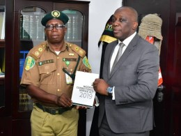 R-L: Delta State Attorney-General and Commissioner for Justice, Mr. Peter Mrakpor and Controller of the Nigerian Correctional Service, Delta State Command, Mr. Ovie Esezobor