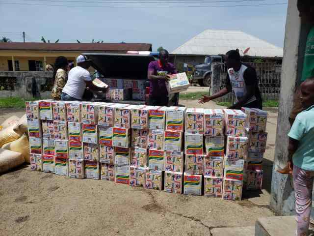 Food 4 Covid-19 distribution exercise by CPU Foundation in Ndokwa East LGA