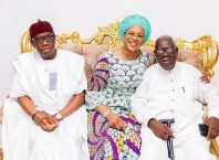 From Right: Sir Arthur Okorie Okowa, Dame Edith Okowa and Senator Ifeanyi Arthur Okowa
